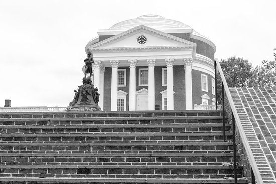 University of Virginia Rotunda Tour: Steps leading up to the Rotundda