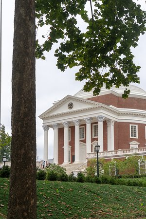 University of Virginia Rotunda Tour: Greek inspired colonnades grace the front and back