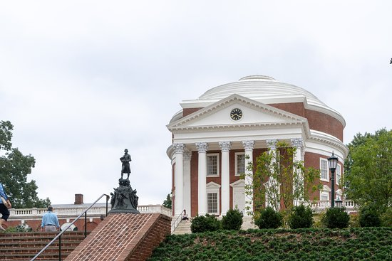 University of Virginia Rotunda Tour: Setting on a slight hill enhances the presence of the Rotunda
