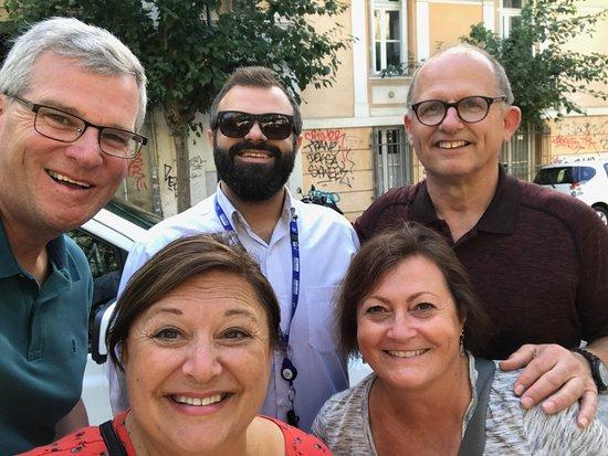Athens Tours Fotis Kolliris: Our group with Dimitris
