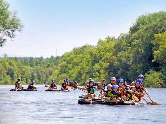 Kutchan-cho, Japan: River rafting in summer
