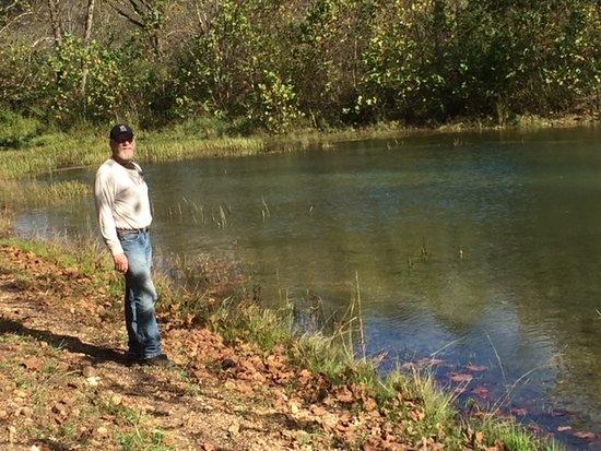 Salem, MO: Spring and pond.