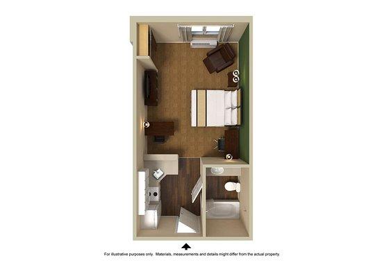West Mifflin, PA: Studio Suite - 1 King Bed