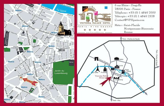 Location Map At Victoria Palace Paris - Picture of Victoria Palace ...