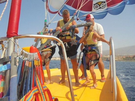 Parascending Tenerife: parascending
