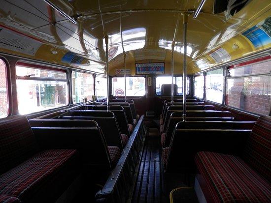 Whitewebbs Museum of Transport: Inside of 1950's routemaster bus