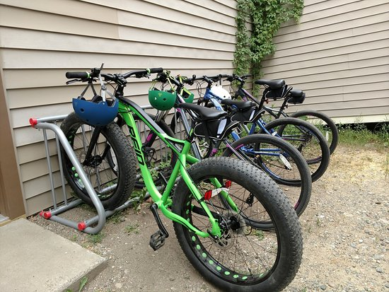 Ely, MN: Bike parking in our courtyard.