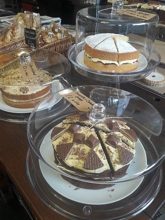 Carmarthenshire, UK: Our own homemade cakes always available by the slice from our counter