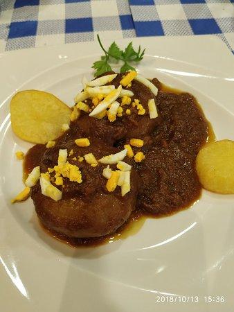 La Felguera, สเปน: Excelentes cebollas rellenas