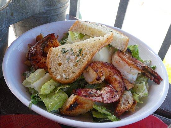 Gourmet Au Bay: Caesar salad with wood roasted prawns