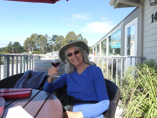 Gourmet Au Bay: Me, enjoying wne