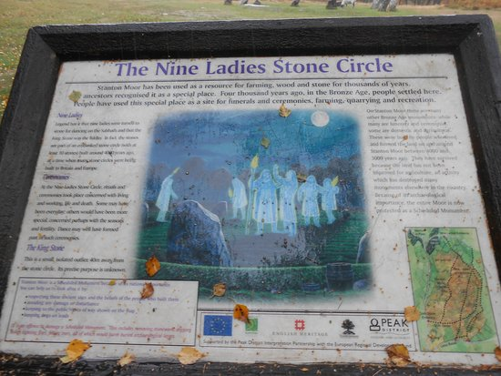 ‪‪Birchover and Stanton Moor‬: Information on The Nine Ladies.‬