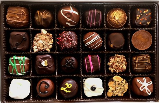 Stevensville, MT: A 24 piece chocolate box. A great way to explore the plethora of flavors we produce.