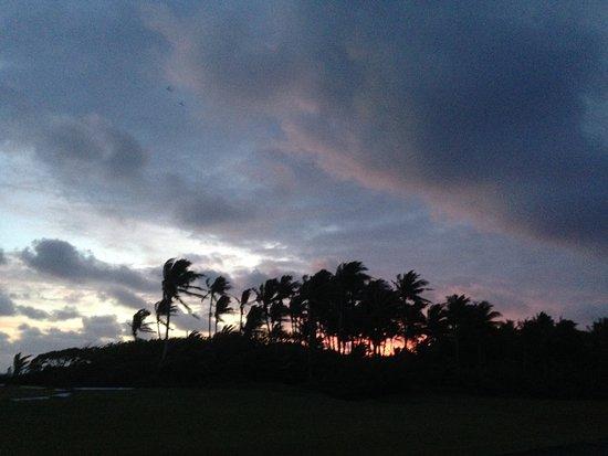 Ofu, Amerikansk Samoa: sunset from Vaoto Lodge