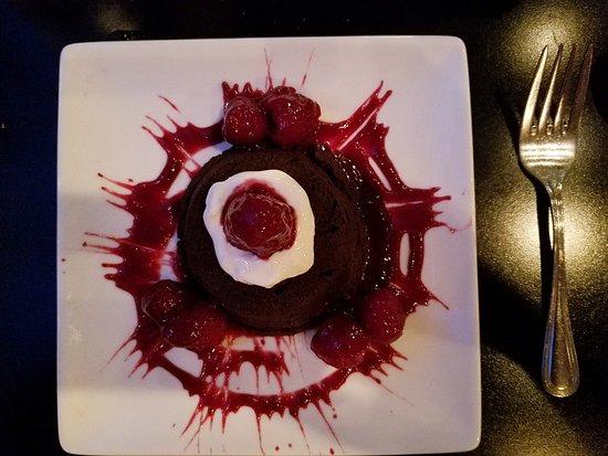 Elixir Restaurant: Delicious - deep dark chocolate with raspberries