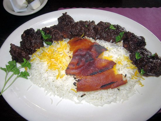 Hatboro, PA: Kabab Bareh (grilled lamb w/ peppers & onion) w/ Basmati rice