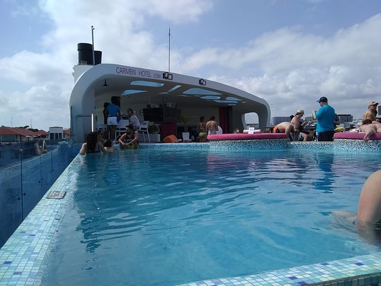 Rooftop - Picture of The Carmen Hotel, Playa del Carmen