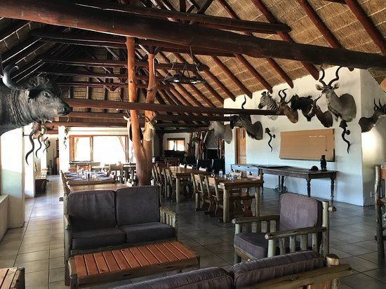 Komga, แอฟริกาใต้: The very generous lodge with its safari antlers