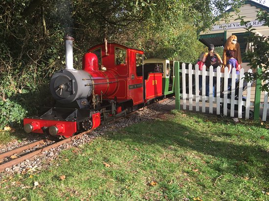 Netley, UK: The steam loco at the station