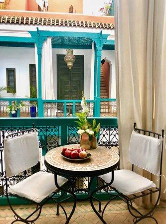 Riad Farnatchi: Terrace off my suite.