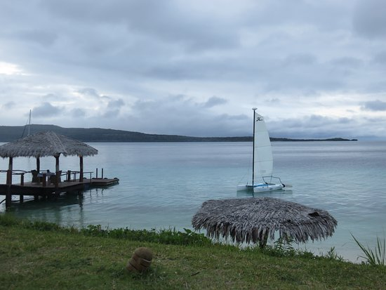 Port Havannah, Vanuatu : View out to the jetty
