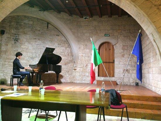 Sannicandro di Bari, อิตาลี: Una sala del Castello durante il concerto di un giovane pianista