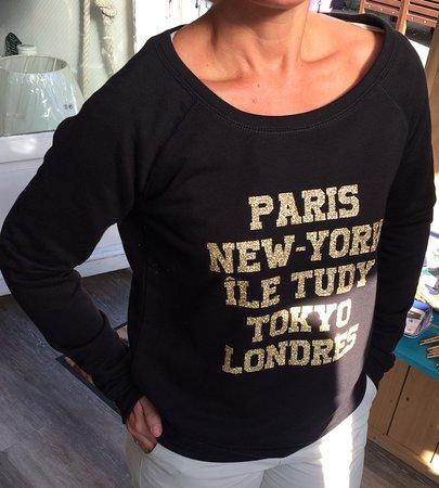 Ile-Tudy, Frankreich: Coupe sweat femme , de S à L