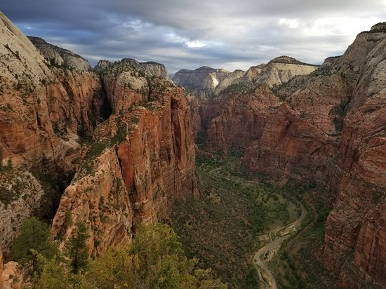 going up angels landing first thing in the morning followed by