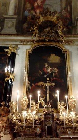 Cappella dei Banchieri e dei Mercanti: Dipinto all'altare di Andrea Pozzo