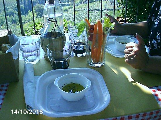 Montefioralle, Italy: pinzimonio