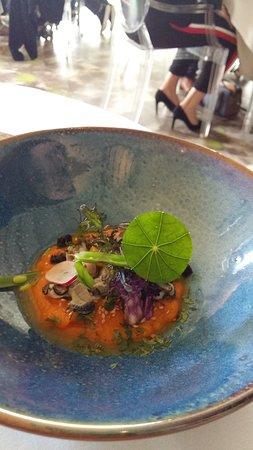 Nieuil, France: huître et potiron
