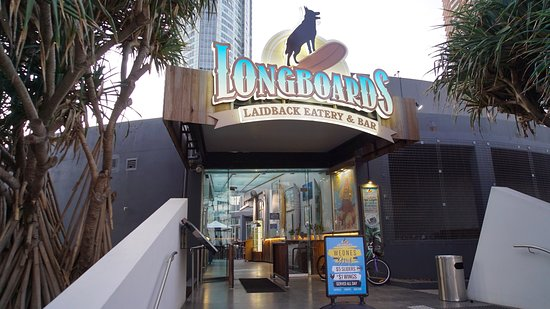 Longboards Laidback Eatery & Bar: Street side view of Longboards Eatery
