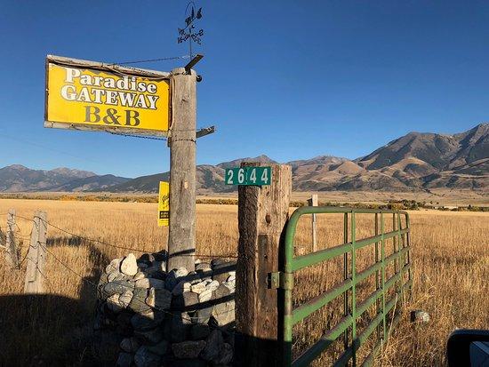 Emigrant, Монтана: Entrance off Highway 89