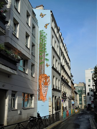 Fresque Tigre et Bambous