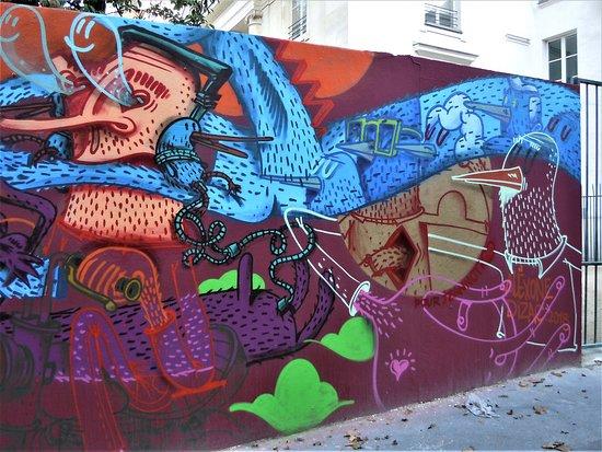 Fresque Le Cycliste