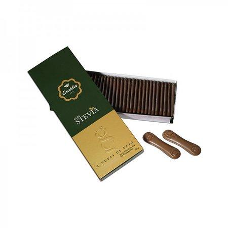 Caixa Línguas de Gato (Chocolate Leite/Negro) com Stevia
