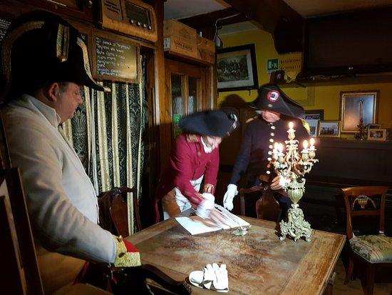 La firma del trattato di Campoformido presso la'antica trattoria al trattato