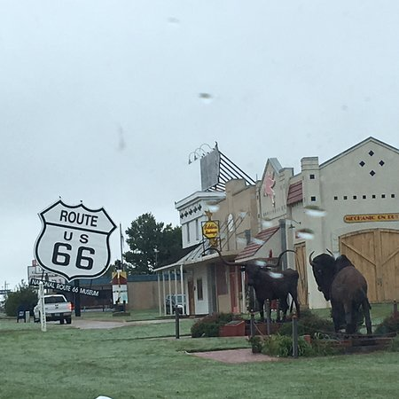 Elk City, OK: Front if what turned out to be an excellent visit where you can learn so much about 66 and also