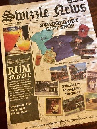 Swizzle Inn: Menu