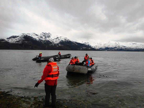 Tierra del Fuego, Cile: Desembarco en Bahía Ainsworth