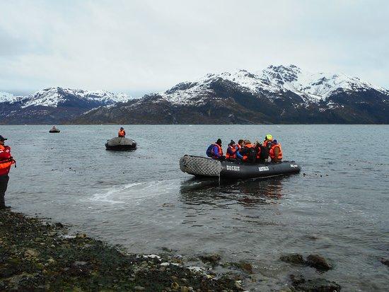 Tierra del Fuego, Cile: Regreso al barco