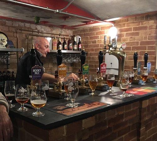 Hook Norton, UK: Ölprovning