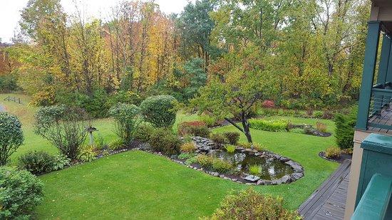 Honeoye, NY: Koi pond and views
