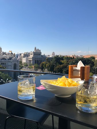 Our Drinks Overlooking The City Picture Of Terraza Cibeles