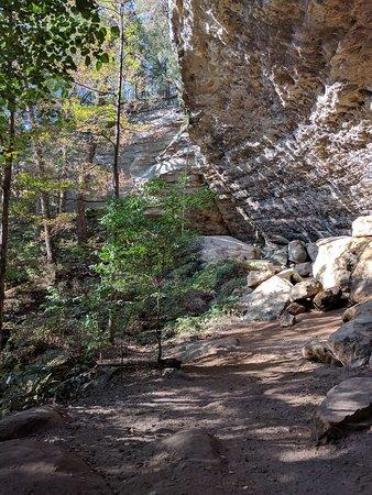 Goreville, Илинойс: Hawk's Cave Trail