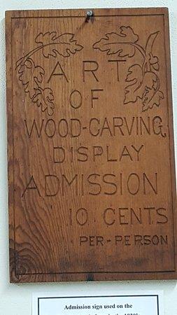 Spillville, IA: 1920s sign
