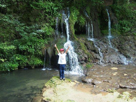 Malko Tarnovo, Bułgaria: My kid at Dokuzak Waterfalls