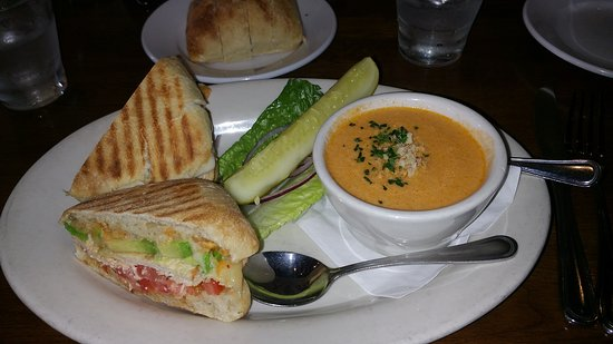 Heyday Cafe: Panini sandwich with soup - yummy!
