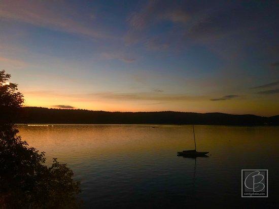 Bomoseen, เวอร์มอนต์: sunset