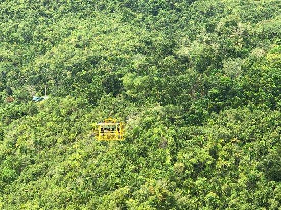 Loboc Ecotourism Adventure Park: Cable car instead of zip line.
